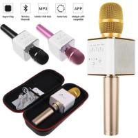 Jual Mic Q9 Wireless Bluetooth Karaoke Player Microphone Speaker KTV USB Murah