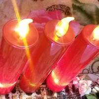 Jual Lilin elektrik merah panjang electric candle led Murah