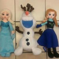 Jual Paket Boneka Frozen Original (Elsa, Anna, Olaf) Murah