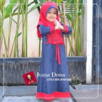 Baju Gamis Balita | Dress Muslim Brokat | Ivana Denim Dress