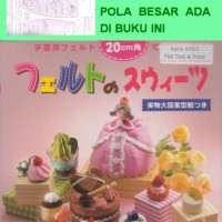 FELT FOOD & DOLL 2 -Miniatur Replika Makanan & Boneka Dari Kain Flanel