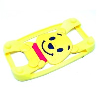 Jual Teddy Bear Bumper Ring Silicone Case Smartphone 4 - 5.5 Inch - Brown  Murah