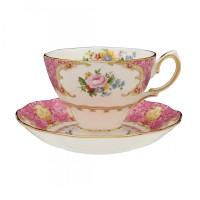 Royal Albert Polka rose Vintage teacul and saucer set