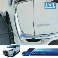 Jual JSL Garnish Ring Reflektor Bumper Belakang Toyota Sienta Chrome JSL Murah