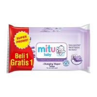 Mitu Baby Tissue Basah Wet Wipes 50's - Purple