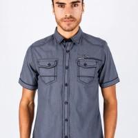 Jual Slim Fit - Fashion Shirt - Gray - Short Sleeve -  JSH.390.S477F.387.C Murah