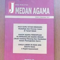 Jual Jurnal Penelitian Medan Agama Edisi 8. Desember 2007  Murah