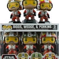 Jual Funko Pop- Star Wars- 3 Pack Pilot - Wedge,Biggs,And Porkins Murah