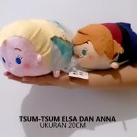 Jual boneka tsum-tsum elsa anna impor 20cm Murah