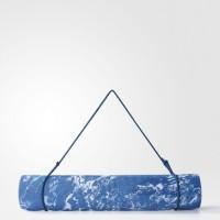 Adidas Women Training Yoga Mat Camo Solar Blue Original