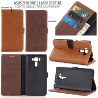 Jual Asus Zenfone 3 Laser ZC551KL - Country Agenda Standing Leather Book Murah