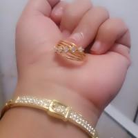Jual set gelang cincin xuping/perhiasan xuping yaxiya meili Murah