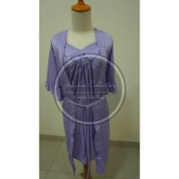 Jual Baju Tidur Setelan Kimono Tricot 022 Purple Murah