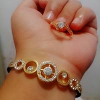 Jual set gelang cincin xuping /perhiasan xuping yaxiya meili Murah