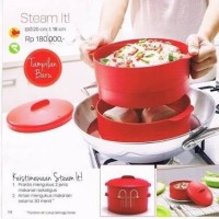 Jual Steam It Merah (susun 2) Tupperware Murah