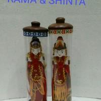 Jual wayang golek mini tabung RAMA & SHINTA Murah