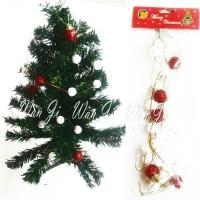 Jual Gantungan Pohon Natal Rantai Drum / Bola / Hiasan / Aksesoris/ Santa Murah