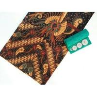 kain batik sogan solo parang kembang gede tanpa embos dan bros