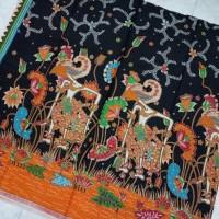 Jual kain batik solo kembang wayang Murah