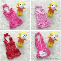 Baju Jumpsuit Bayi Perempuan Hello Kitty Polkadot Set Bandana