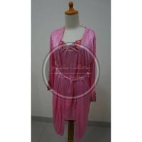 Jual Dress Setelan Kimono Satin 1603 Pink Murah