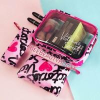 pouch makeup tas makeup Victoria Secret Vs 3in1 original