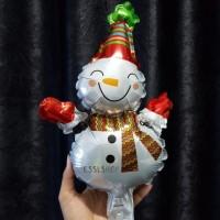 Balon Foil Boneka Salju/Balon Merry Christmas/ Balon Natal/ Balon Xmas