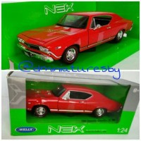 Miniatur Diecast Welly NEX skala 1/24 Chevrolet Chevelle Red Rare