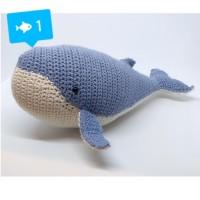 Amigurumi Baby Whale Shark Boneka Rajutan Handmade Ikan Paus Bayi Doll