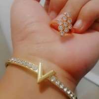 Jual set gelang cincin /perhiasan xuping yaxiya meili Murah