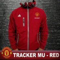 Jual Jaket Tracker Bola Manchester United Keren Merah Murah
