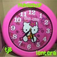 Jual jam Dinding Murah Standard Karakter Hello Kitty Murah