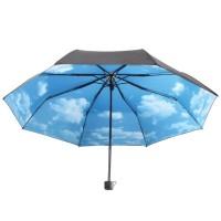 Jual Hoco Payung Lipat Corak Langit Cerah Black Blue Murah