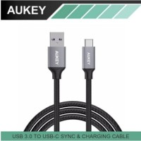 AUKEY 6.6 ft/2M CABLE USB TYPE-C TO USB 3.0 with Braided Nylon CB-CD3