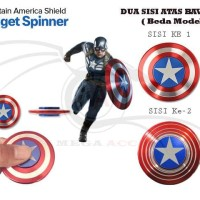 Jual Fidget Spinner Captain America - 2 Model Atas & Bawah Limited Murah
