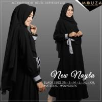 Jual NEW NAYLA SERIES BY MOUZA/BLACK/SIZE XS-L/MUSLIMAH BAND Diskon Murah