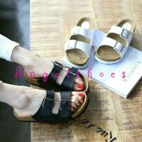 Jual toko sepatu wanita online murah meriah SANDAL PUYUH ANJELA 02 HITAM D Murah