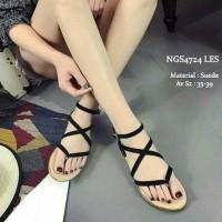 Jual sepatu wanita online murah berkualitas SANDAL TEPLEK WANITA EMILY BLA Murah