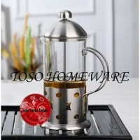 Jual Tea Coffee Plunger 3 Cup French Press 350Ml Kopi Teh Maker Murah