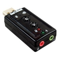 USB Virtual 7 1 Channel Sound Card USB External Adapter Portable MIC