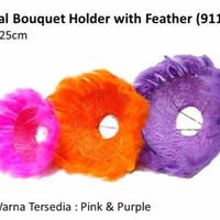 Sisal Bouquet Holder Feather - Pemegang Rangkaian Bunga motif Bulu