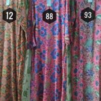 Jual Daster Batik Lengan Panjang Kencana Ungu Label Biru Murah