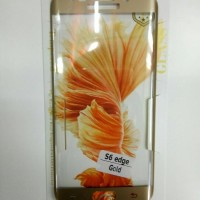 TEMPERED GLASS COLOR SAMSUNG GALAXY S6 EDGE FULL LCD GARANSI