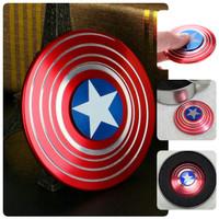 Jual Fidget Spinner Tameng Captain America Stainless PREMIUM IMPORT Murah