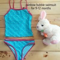 Jual TERMURAH Jual baju renang anak cewek rainbow bubble swimsuit murah Murah