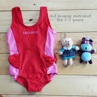 Jual PROMO Jual baju renang anak cewek red imarge swimsuit murah Murah