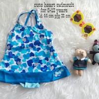 Jual TERMURAH baju renang anak cewek cute heart swimsuit Murah
