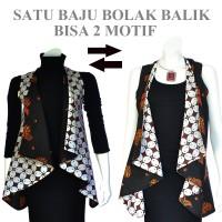 Jual Tunik Batik Jas Panjang Bolero Cardigan Rompi Panjang A307 Murah