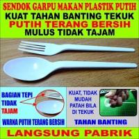 Jual Sendok Makan Plastik Panjang Putih Susu Per Pack 25 Pcs Murah
