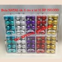 Jual Aksesoris BOLA NATAL 6 cm murah christmas ball Murah